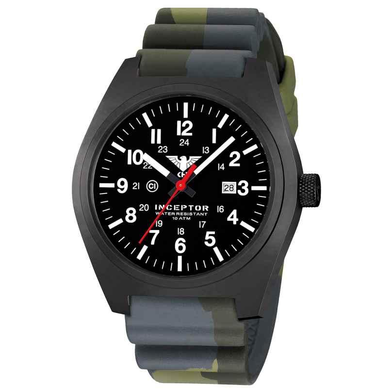 KHS INCBS.DC3 Herren-Armbanduhr Inceptor Black Steel 4260446984074