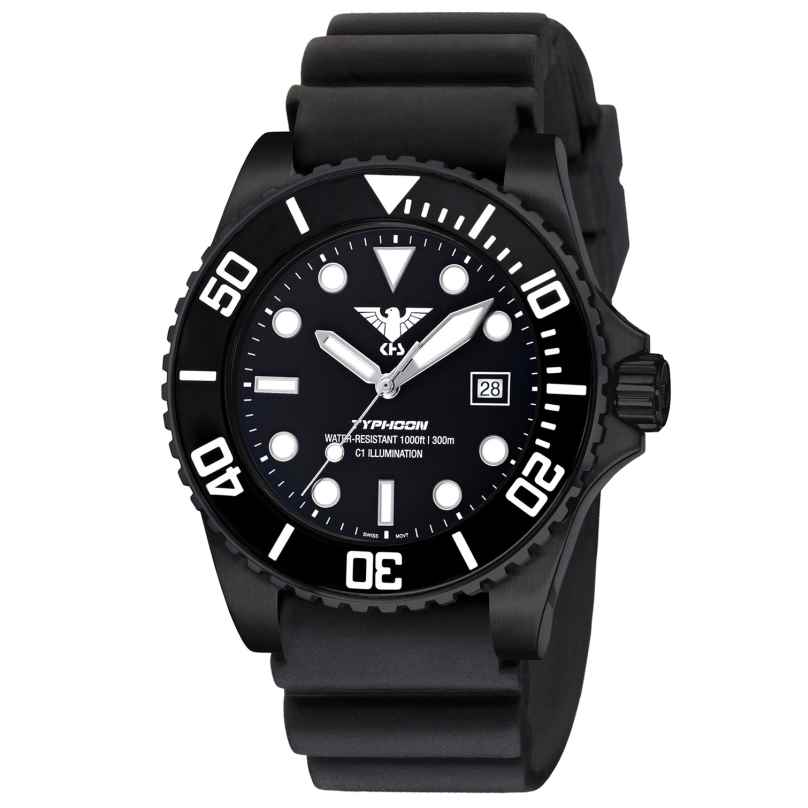 KHS TYBS.DB Diving Watch Typhoon Black Steel 4260446984678