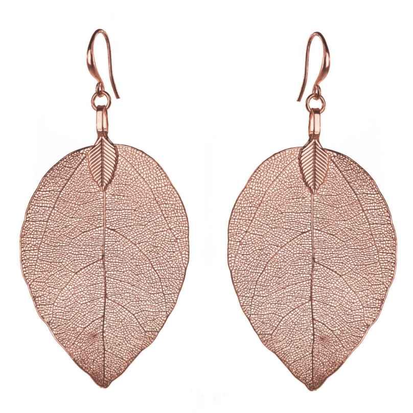 Blumenkind BLE03SRO Damen-Ohrringe Blätter Rosé 9120044240109