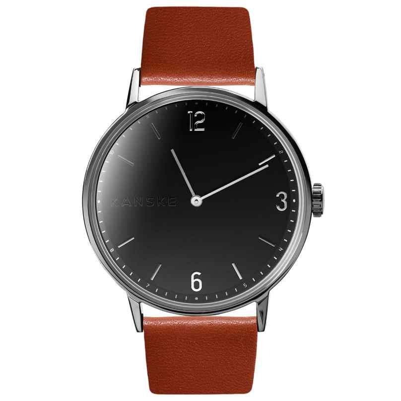 Kanske Denmark 313 Armbanduhr Sincere Silberfarben/Cognac 5714094000130