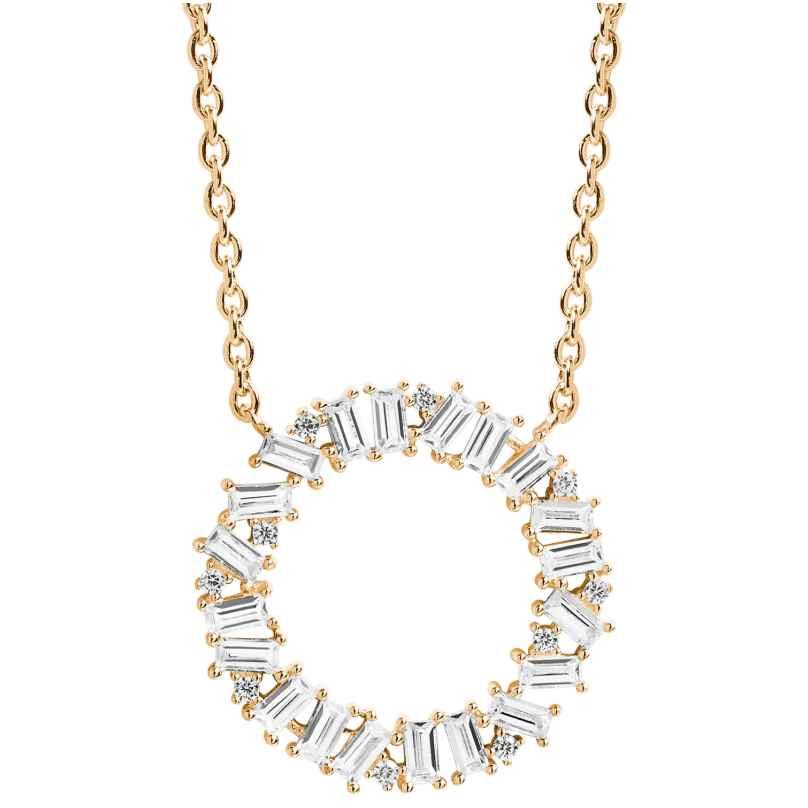 Sif Jakobs Jewellery SJ-C0163-CZ(YG) Damen-Halskette Antelle Circolo Grande 5710698048172