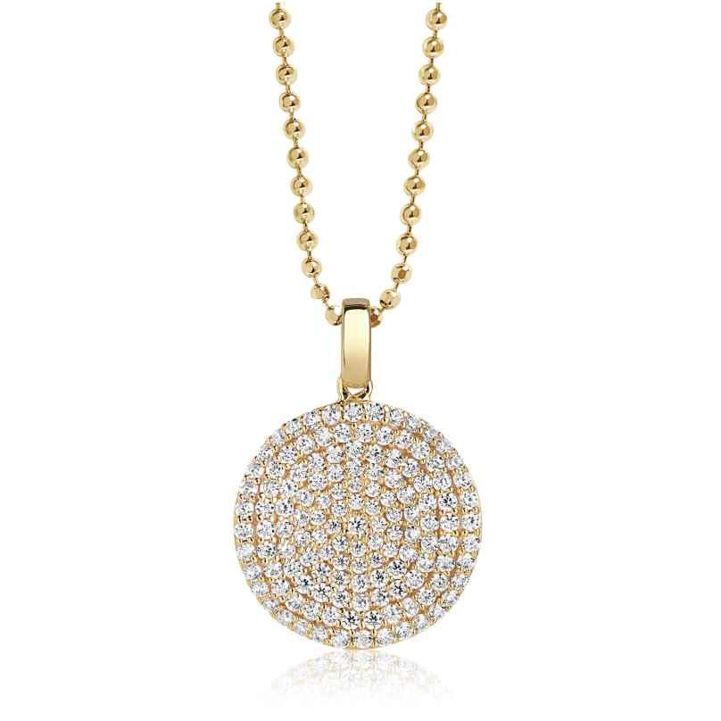 Sif Jakobs Jewellery SJ-P3210-CZ(YG)/45 Damenhalskette Monterosso Silber Vergoldet 5710698060808