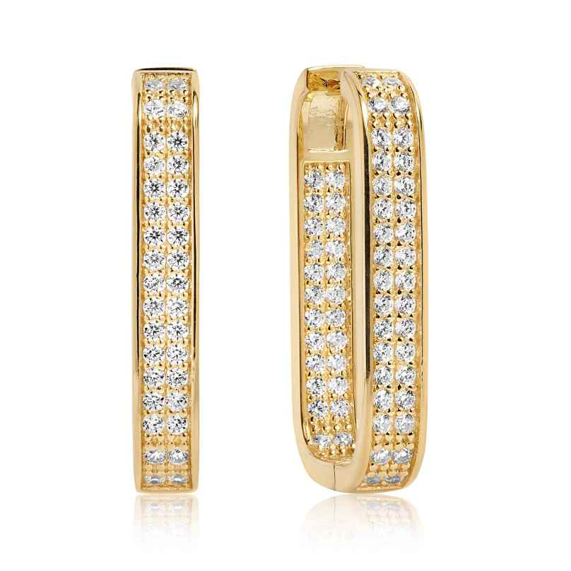 Sif Jakobs Jewellery SJ-E1064-CZ(YG) Ohrringe Matera Grande Silber Vergoldet 5710698055460