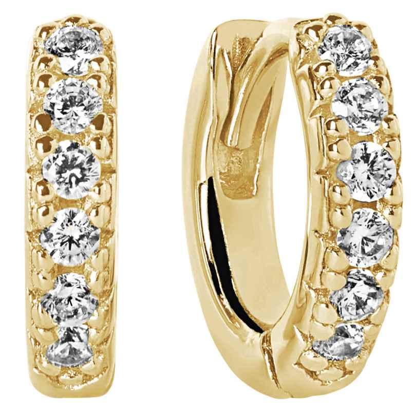 Sif Jakobs Jewellery SJ-E1066-CZ(YG) Ohrringe Creolen Ellera Piccolo Goldfarben 5710698061416