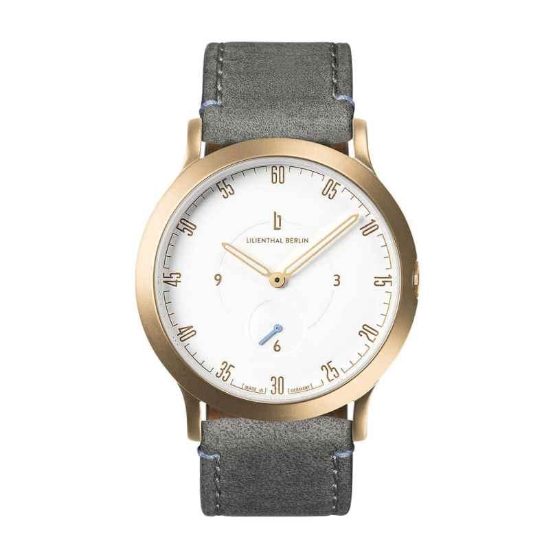 Lilienthal Berlin L01-202-B009B Uhr L1 Klein gold/weiß/grau 4260466361954