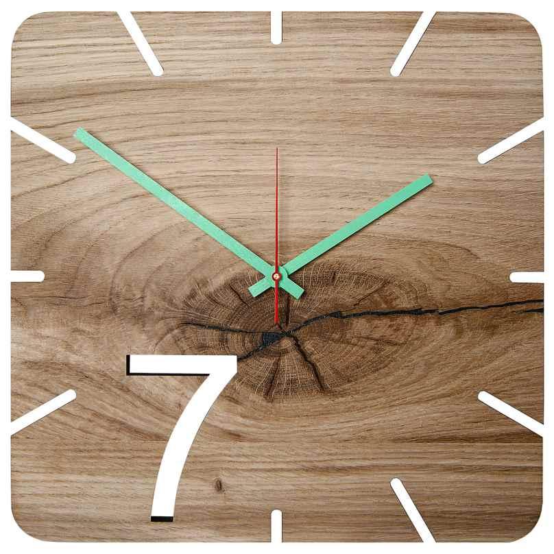 Huamet U5200 Wood Wall Clock Oak Seven 4260497085805