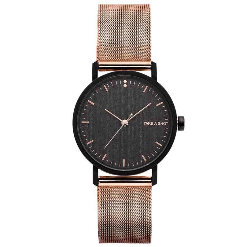 Take A Shot Susy Damen-Armbanduhr mit Holz-Zifferblatt 4260485974722