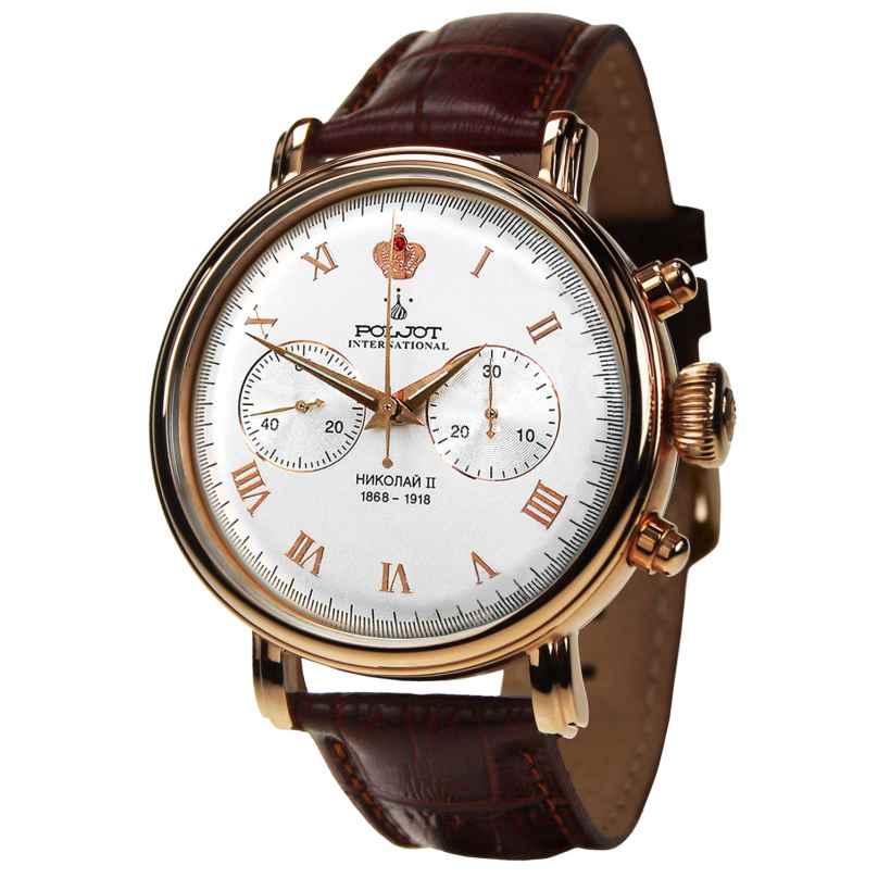 Poljot International 2901.1941612 Herren-Handaufzugsuhr Chronograph Nicolai II 4260479165419