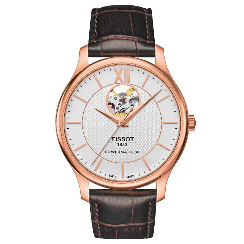 Tissot T063.907.36.038.00 Herrenarmbanduhr Tradition Automatic Open Heart 7611608276020