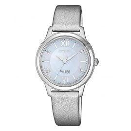 Citizen EM0720-18D Ladies' Solar Watch Eco-Drive Super Titanium