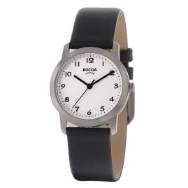 Boccia 3291-01 Titanium Ladies' Watch with Leather Strap