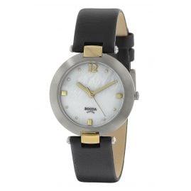Boccia 3292-02 Titanium Ladies' Wristwatch with Leather Strap