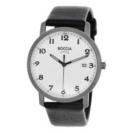 Boccia 3618-01 Titan-Herrenuhr mit Lederband