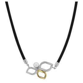 Boccia 08006-0242 Rubber Necklace with Titanium Pendant