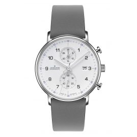 Junghans 041/4775-Grau Men's Wristwatch Chronoscope Form C