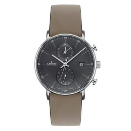 Junghans 041/4876-Taupe Herrenuhr Chronoscope Form C