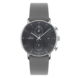 Junghans 041/4876-Grau Men's Wristwatch Chronoscope Form C