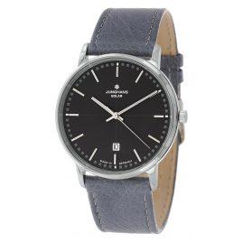 Junghans 014/406-Strauß Herren-Armbanduhr mit 2 Lederbändern Milano Solar