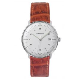 Junghans 041/446-Goldbraun max bill Quartz Men's Watch with 2 Leather Strap