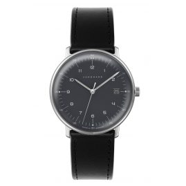 Junghans 041/4818-Schwarz max bill Quartz Watch with Two Straps