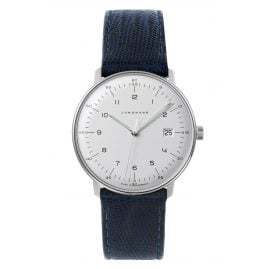 Junghans 041/446-Blau max bill Quartz Watch with 2 Leather Straps