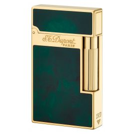 S.T. Dupont 016259 Lighter Line 2 Chinese Laquer Green