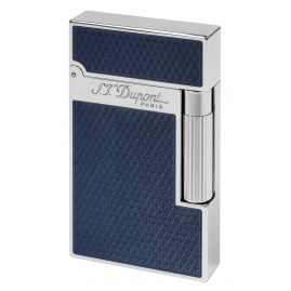 S.T. Dupont 016252 Lighter With Guilloche Under Blue Lacquer