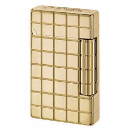 S.T. Dupont 020801 Lighter Initial Quadrillage Gold Tone