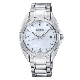 Seiko SKK885P1 Damen-Armbanduhr mit 7 Diamanten
