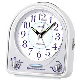 Seiko QHP003W Alarm Clock with 18 Melodies