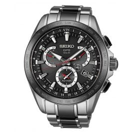 Seiko SSE041J1 Astron GPS Solar Dual Time Mens Watch