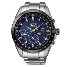 Seiko SSE147J1 Astron GPS Solar Dual Time Big Date Mens Watch