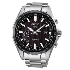 Seiko SSE161J1 Astron GPS Solar World Time Herrenarmbanduhr