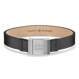Tommy Hilfiger 2700950 Herren Leder-Armband Casual Schwarz
