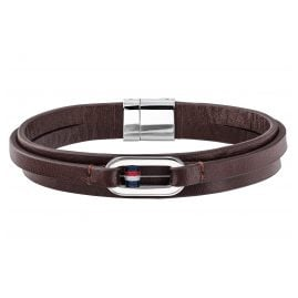 Tommy Hilfiger 2790027 Leather Men's Bracelet Brown