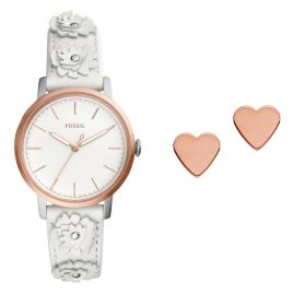 Fossil ES4383SET Ladies Watch Neely Set Heart Earrings