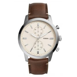 Fossil FS5350 Mens Chronograph Townsman Leather Brown