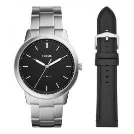 Fossil FS5451SET Men's Watch with Replacement Strap The Minimalist