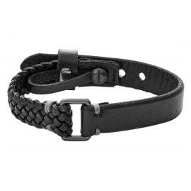 Fossil JA6932001 Leder-Armband für Herren