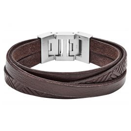 Fossil JF02999040 Men's Leather Bracelet Vintage Casual Brown