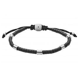Fossil JF03006040 Herren-Armband Achat Schwarz