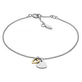 Fossil JFS00455998 Silber-Damenarmband Duo Heart