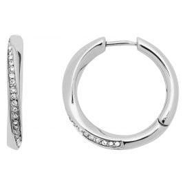 Fossil JF03015040 Ladies' Hoop Earrings Twist