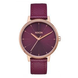 Nixon A108 2479 Damenuhr Kensington Leather Rose Gold/Bordeaux