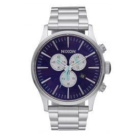Nixon A386 230 Sentry Chrono Purple Mens Watch