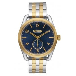 Nixon A950 1922 C39 Gold/Blue Sunray Mens Watch