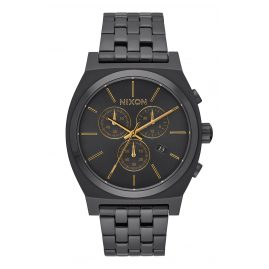Nixon A972 1031 Time Teller Chrono All Black Armbanduhr