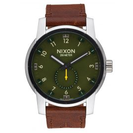 Nixon A938 2334 Patriot Leather Surplus/Brown Mens Watch
