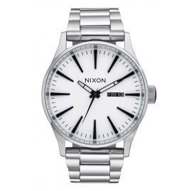 Nixon A356 2450 Herrenuhr Sentry SS White Sunray