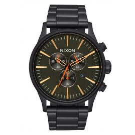 Nixon A386 1032 Sentry Chrono Herrenuhr Schwarz/Surplus